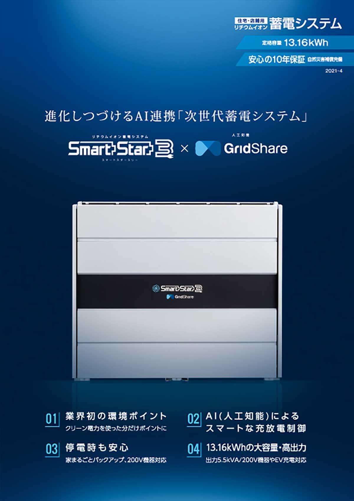新製品 Smart Star 3 × GridShare